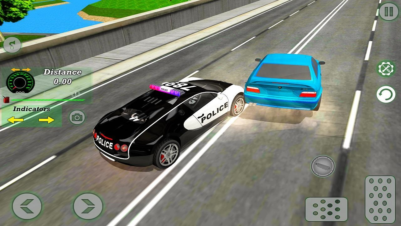 Mad Cop Police Car Race :Police Car vs Gangster Escape