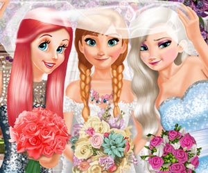 Bride and Bridesmaides Dress up
