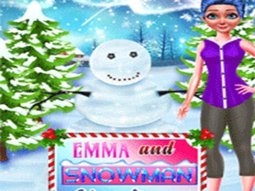 Emma And Snowman Christmas